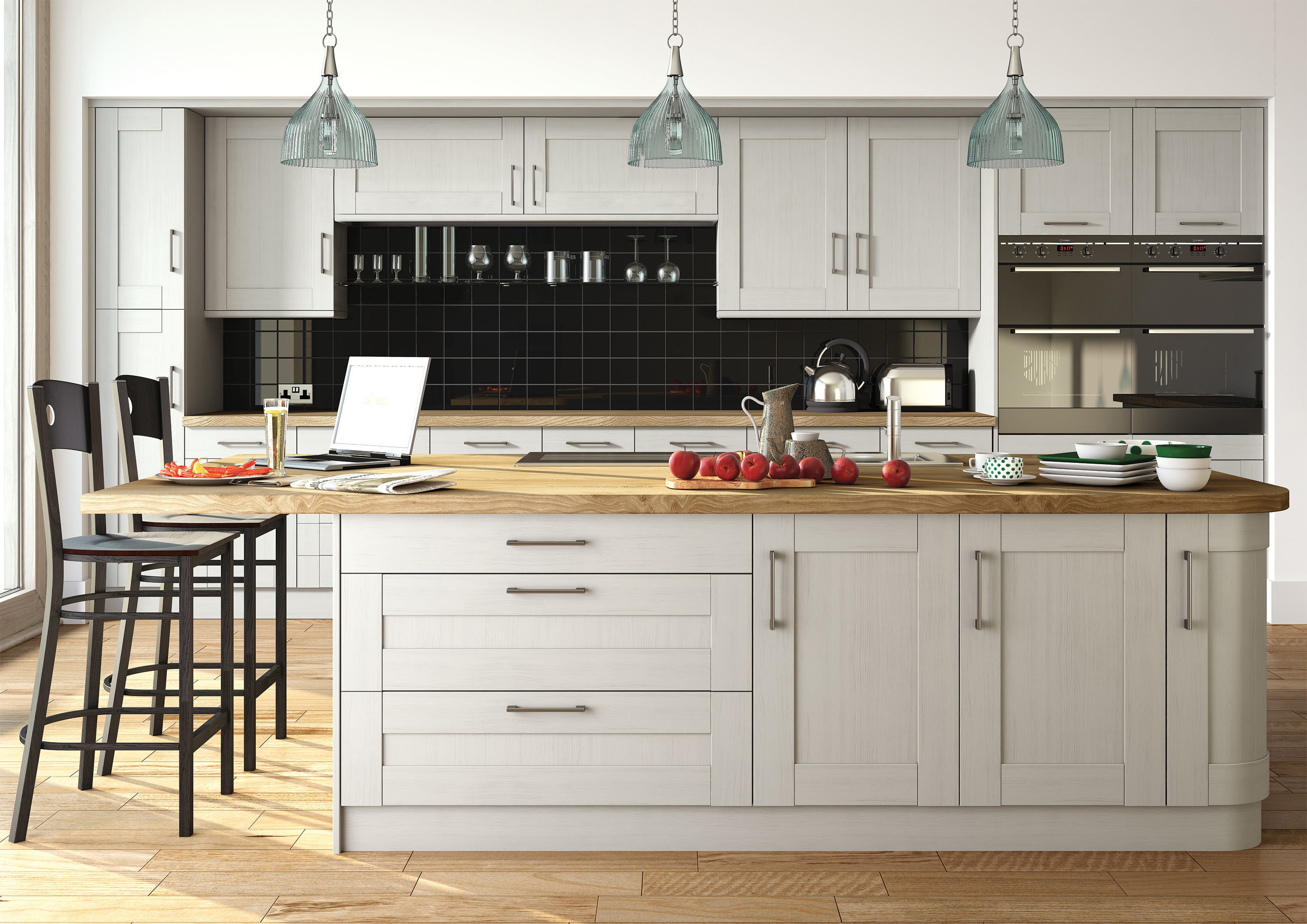 Wilton Oakgrain Grey Kitchen