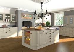 Paintable Shaker Kitchen 1