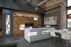 Ultragloss Copperleaf Supermatt Dust Grey Kitchen