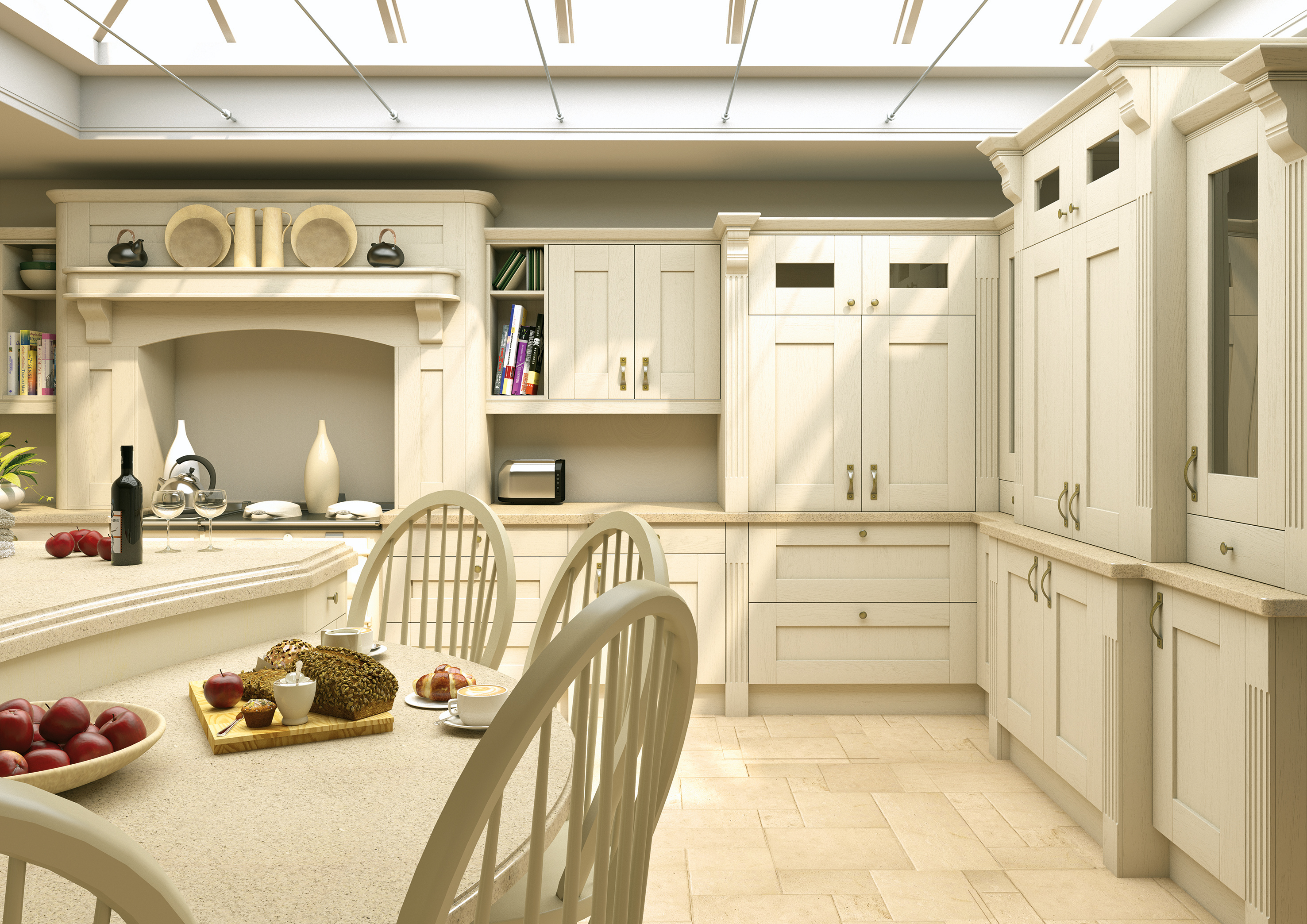 Wilton Oakgrain Cream Kitchen