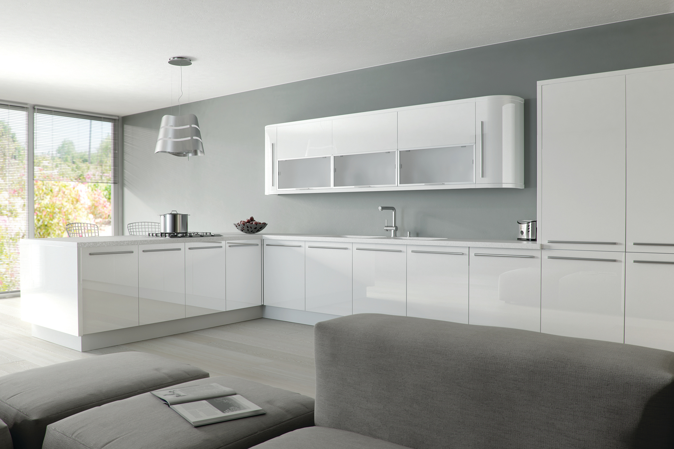 Ultra Gloss White Kitchen