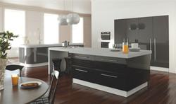 Zurfiz by BA Metallic Anthracite and Metallic Black Kitchen