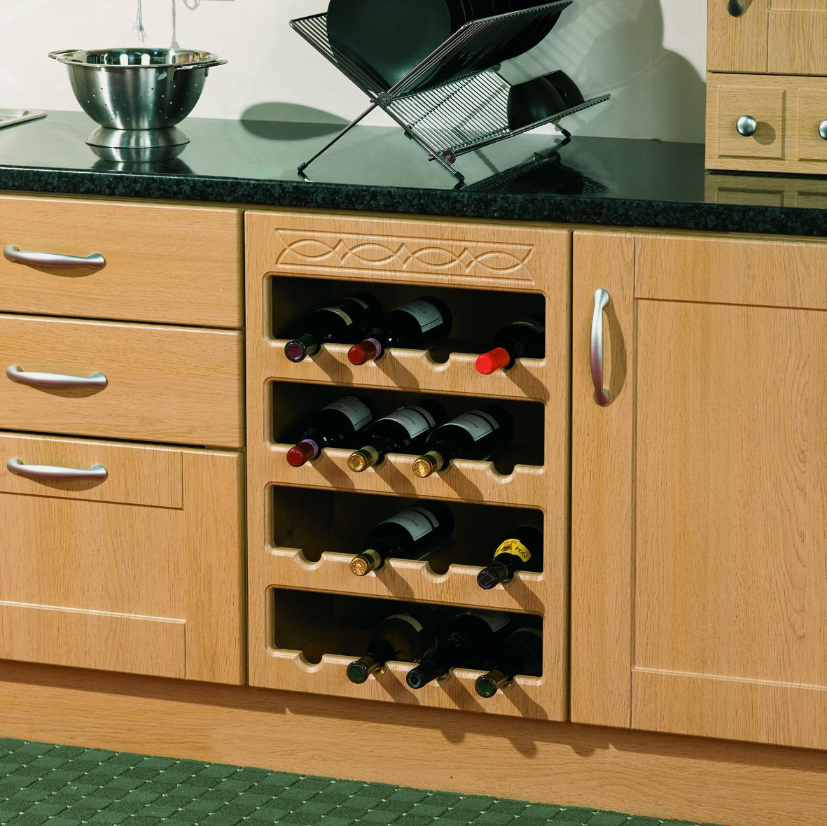 Frieze Pattern Wine Rack 16 btl