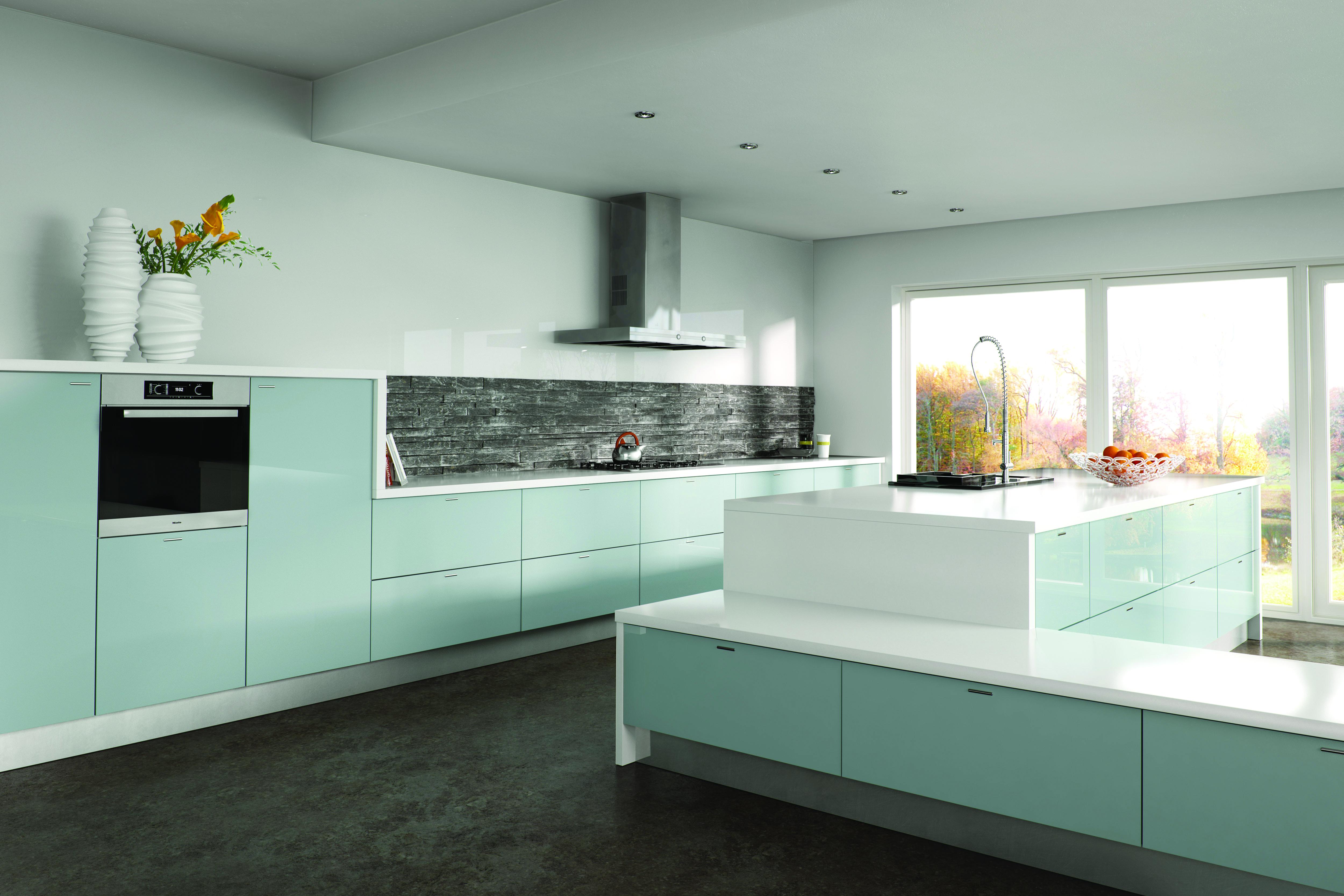 Zurfiz by BA Metallic Blue Kitchen