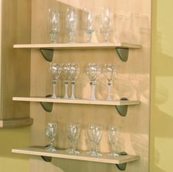 Matching Shelves Brushed Steel Brackets