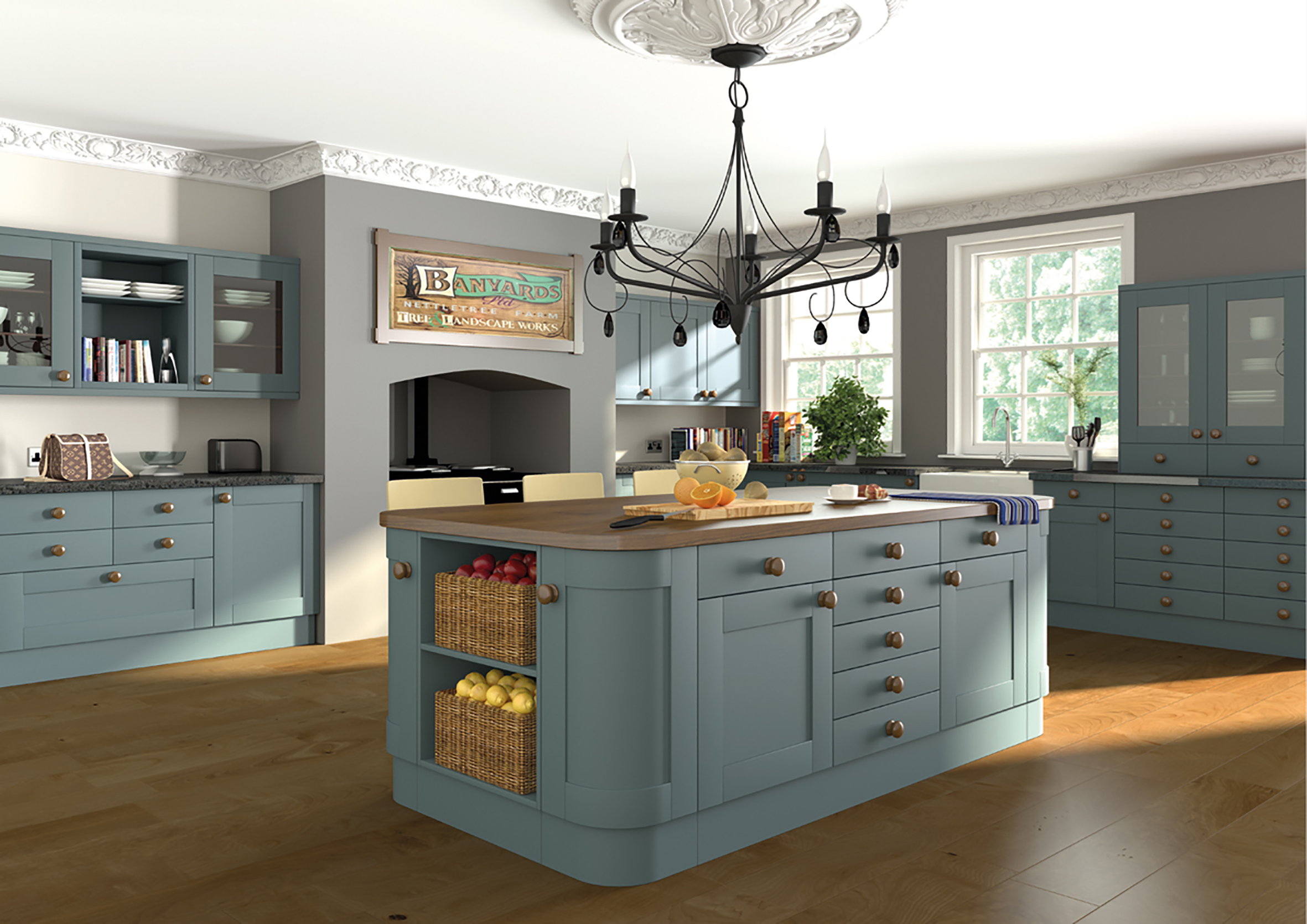 Paintable Shaker Kitchen 3