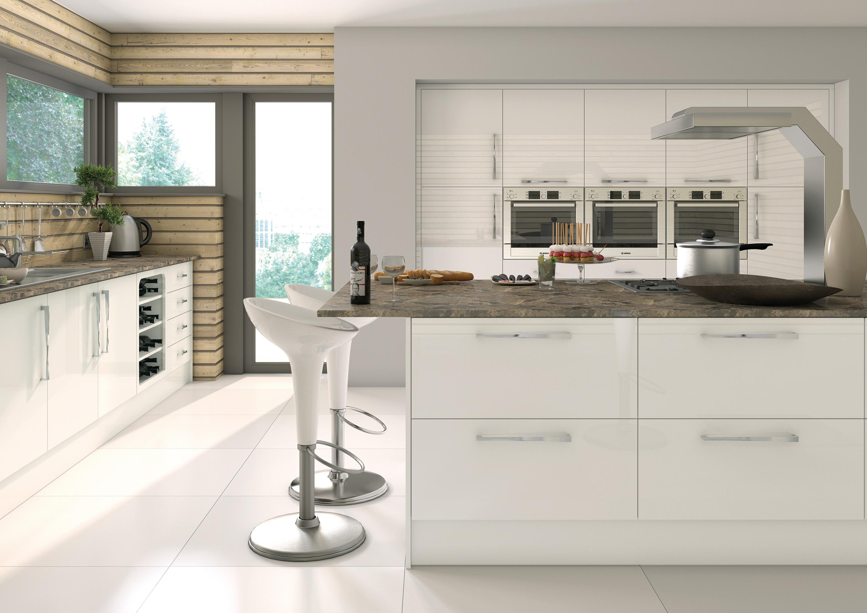 Camden Gloss White Kitchen