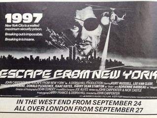 ESCAPE FROM NEW YORK: WHAT DID I TEACH YOU?