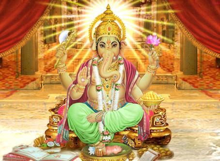 Ganesha - den elefanthovedet Gud.