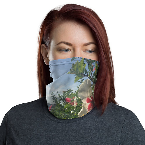 Morning Hibiscus Neck Gaiter / Face mask