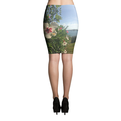 Hibicus Pencil Skirt
