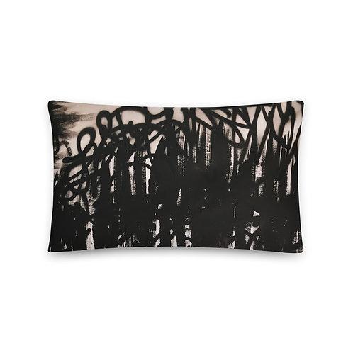 FLAT Black Pillow w/Fill