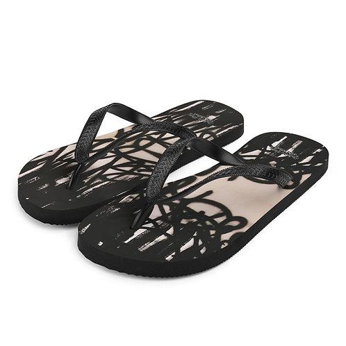 FLAT Black Flip Flops 02