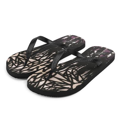 FLAT Black Flip Flops 01