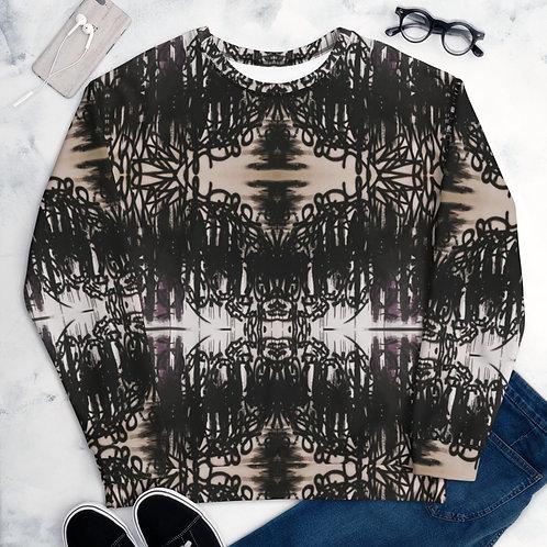 FLAT Black Unisex Sweatshirt 01