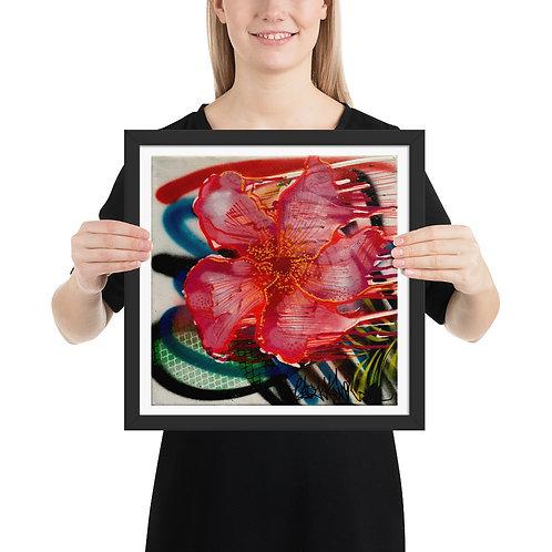 Floating in Red Framed Print