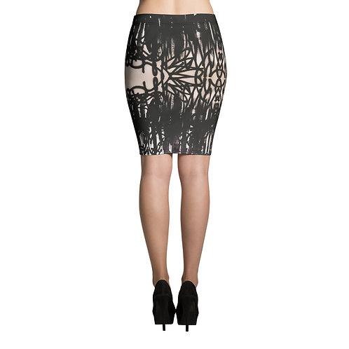 FLAT Black Pencil Skirt