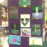 Paintings on display at the final exhibition!