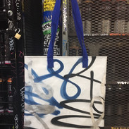 Spraypaint on Canvas Totebags
