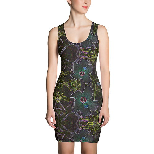 Neon Nights Hibiscus Dress 01