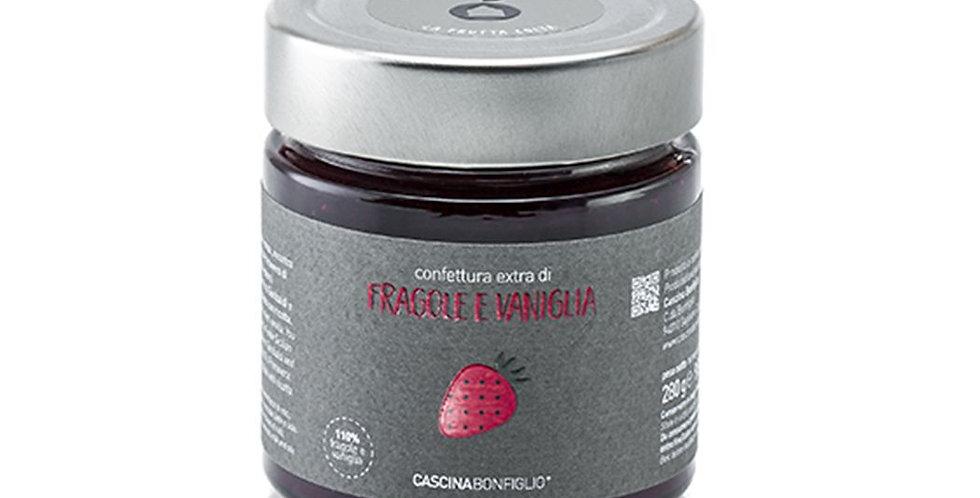 Jahodovo-vanilkový džem z odrody Senga-sengana