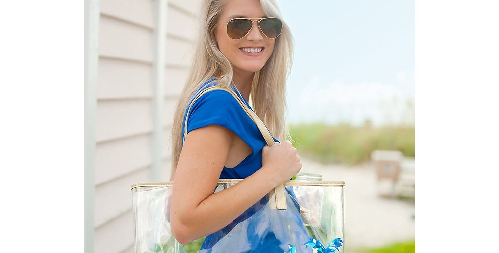 Clear Palm Tote
