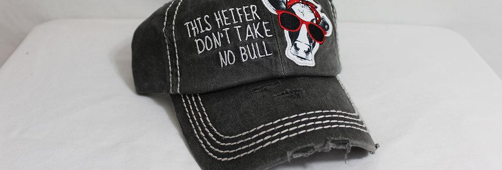 Take no Bull Hat Charcaol