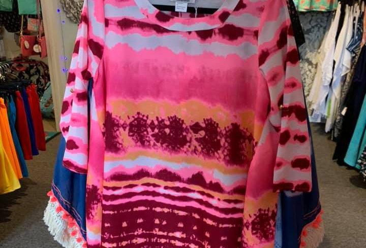 Pink Tye Dye Cover Up