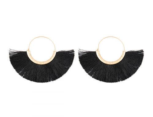 Fan Ring Earrings Modern Collection