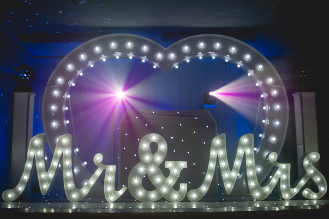 Giant LED Love Heart Hire