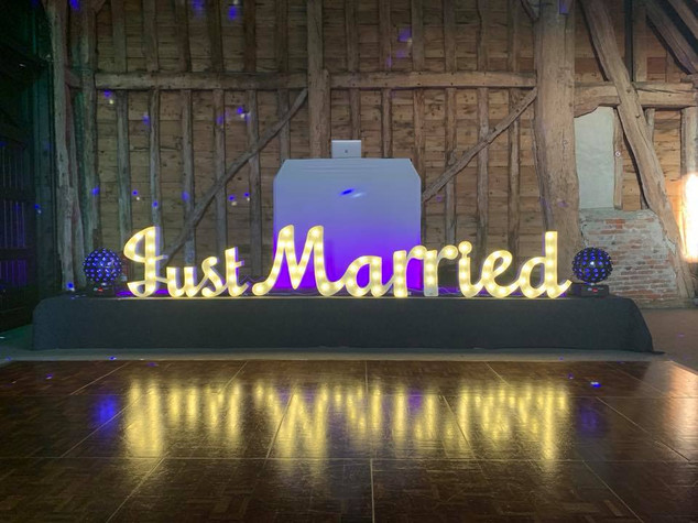 Just Married Letter Hire