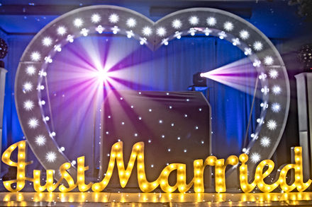Mr and Mrs Light Up Letter Hire Norfolk