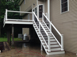 Front view of decking