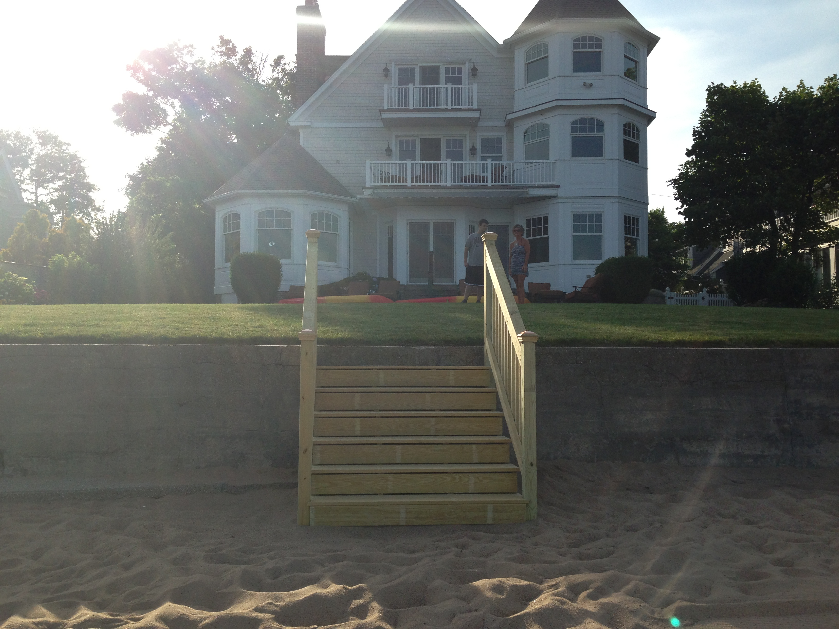 Custom stairs from beach
