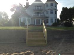 Custom stairs from beach