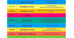 Schedules for Working From Home With Kids