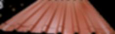 Lamina galvanizada troquelada roja