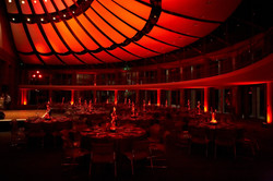 Red lighting at Skirball Event Cente