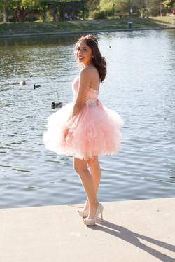 Pink Quinceanera short dress