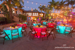Tables with Underlighting J&M Entertainment Event