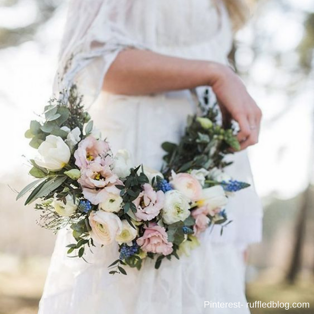 Flower hoops inspiration- bridal show in SCV