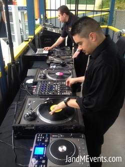 Major DJ Setup at Magic Mountain