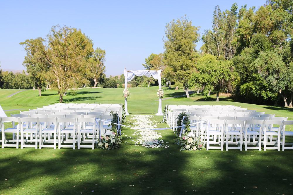 Outdoor wedding in SCV