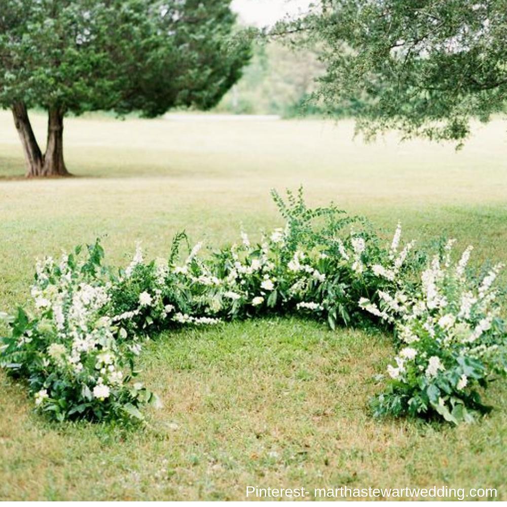 Ceremony decor inspiration- bridal show in SCV