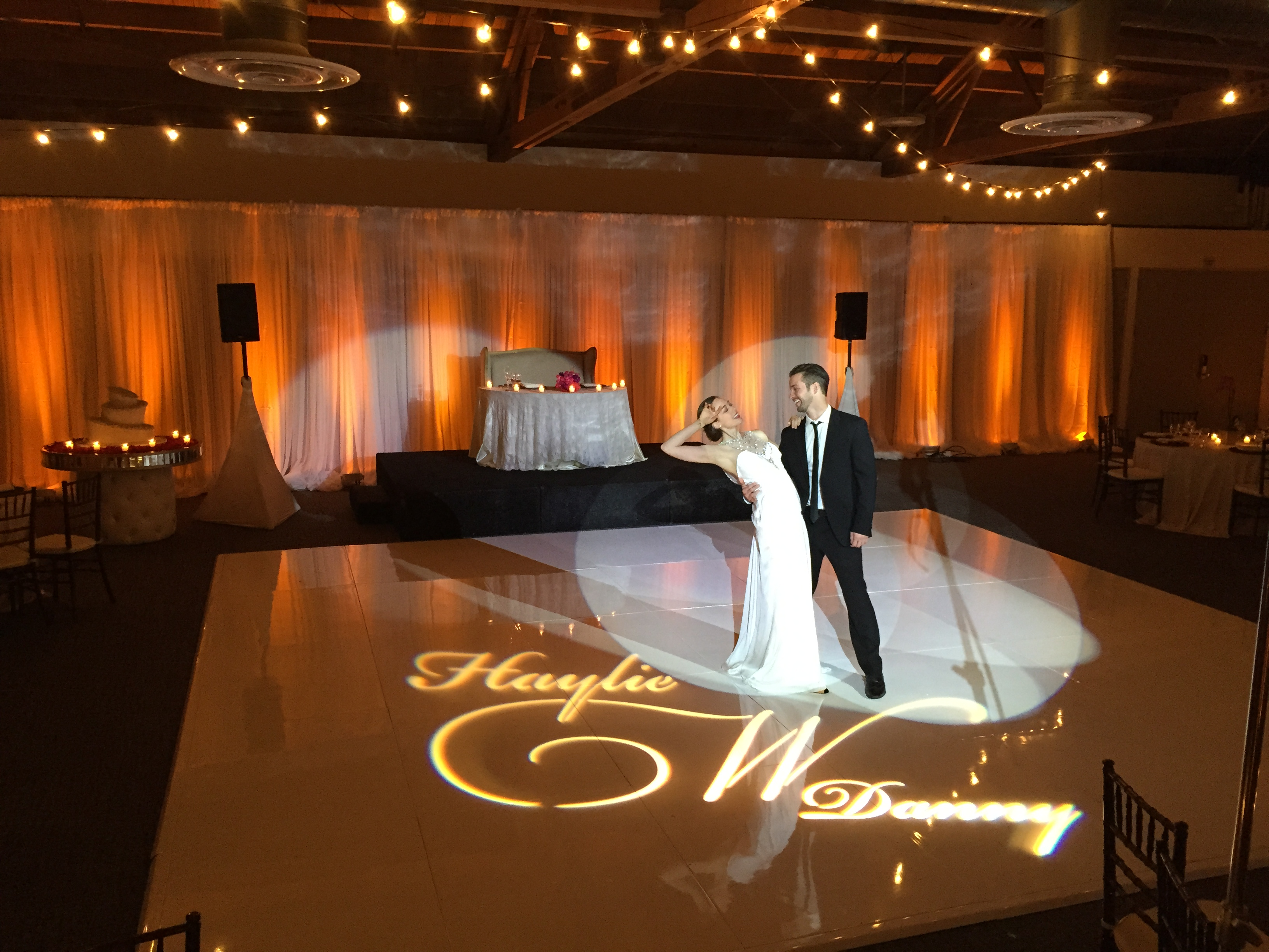 First Dance under Market Lighting