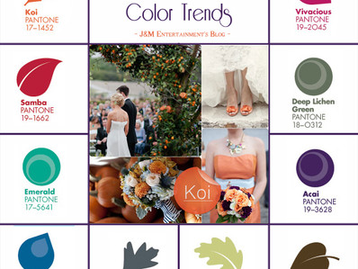 Fall 2013 Wedding Color Trends