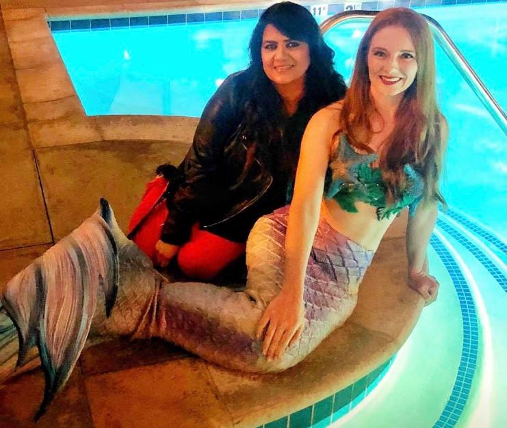 Hyatt, Valencia Grand Re-opening Mermaid