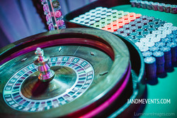 Casino Party with Roulette Table