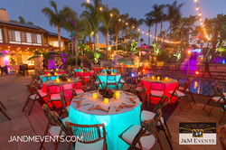 Tables underlit & Market lighting J&M event production