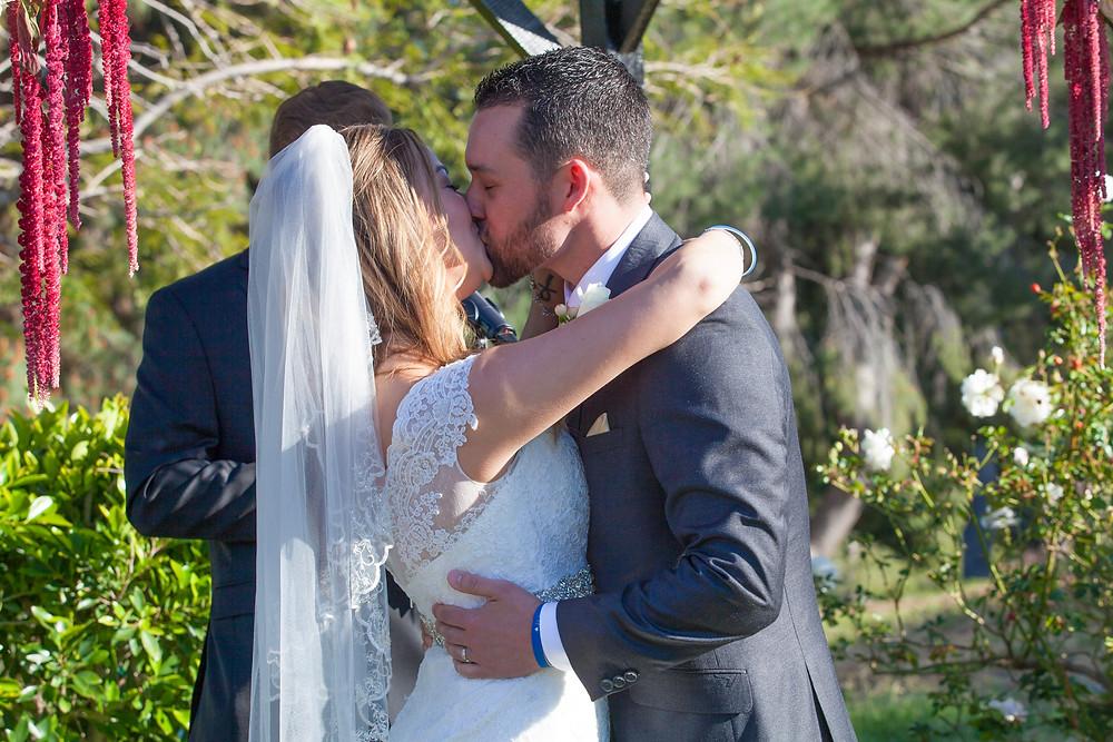 Los Angeles Wedding- First Kiss